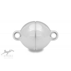 Di Perle 70270012 Magnetschliesse Kugel Halskette Sterling-Silber Vergoldet 12 mm
