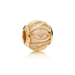 Pandora Shine 761968CCZ Charm Golden Coloured Intertwining Radiance Sterling-Silber 18-K-Gold