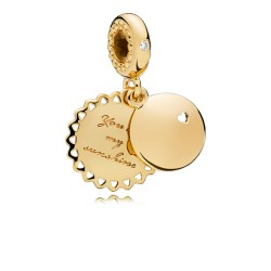 Pandora Shine 767066EN158 Charm-Anhänger You Are My Sunshine Silber 18-K-Gold