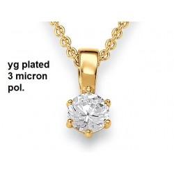 Viventy 769793 Kette mit Anhänger Damen Zirkonia Silber Vergoldet 42,5 cm
