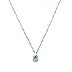 Viventy 774512 Halskette mit Anhänger Damen Tropfen Zirkonia Silber