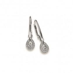 Viventy 774514 Ohrringe Damen Tropfen Zirkonia Sterling-Silber