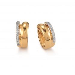 Viventy 777064 Ohrringe Creolen Damen Zirkonia Silber Gelbgold Vergoldet