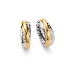 Viventy 778064 Ohrringe Creolen Silber Gelb-Gold