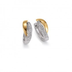 Viventy 778134 Ohrringe Creolen Damen Zirkonia Silber Gelbgold Vergoldet