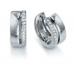 Viventy 779434 Ohrringe Creolen Damen Zirkonia Silber