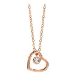 Viventy 779452 Kette mit Anhänger Herz Sterling-Silber Rosé Vergoldet