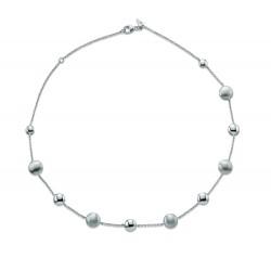 Viventy 779838 Collier Halskette Damen Perlen Kugeln Sterling-Silber 45 cm