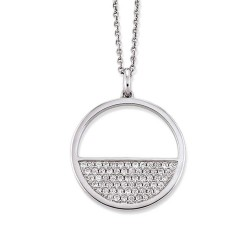 Viventy 780112 Halskette mit Anhänger Damen Zirkonia Silber