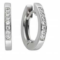 Viventy 780424 Ohrringe Creolen Damen Zirkonia Silber