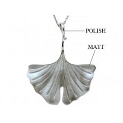 Viventy 780623 Halskette mit Anhänger Damen Ginkoblatt Silber 45 cm