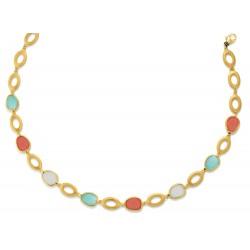 Viventy 780858 Collier Damen Mondstein Aquamarin Silber Vergoldet