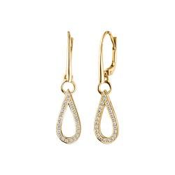 Viventy 782354 Ohrringe Damen Tropfen Swarovski-Zirkonia Silber Vergoldet