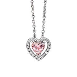Viventy 781312 Kette mit Anhänger Damen Herz Swarovski-Zirkonia Silber