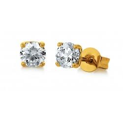 Viventy 781384 Ohrstecker Damen Zirkonia Silber Vergoldet