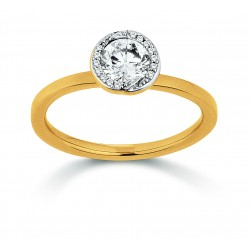 Viventy 781401 Ring Damen Swarovski Zirkonia Silber Gelbgold Vergoldet Gr. 56