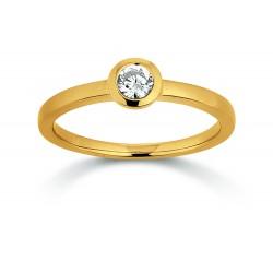Viventy 781421 Ring Damen Zirkonia Silber Gelbgold Vergoldet