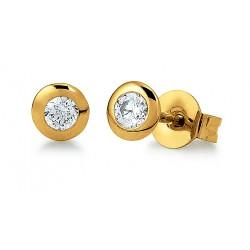 Viventy 781424 Ohrstecker Damen Zirkonia Silber Vergoldet