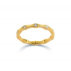 Viventy 781601 Ring Damen Swarovski-Zirkonia Silber Vergoldet