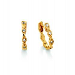 Viventy 781604 Ohrringe Creolen Damen Zirkonia Silber Vergoldet