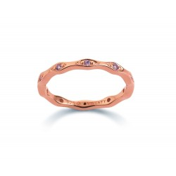 Viventy 781611 Ring Damen Swarovski-Zirkonia Pink Silber Rosegold Gr. 56