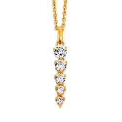 Viventy 781832 Kette mit Anhänger Swarovski-Zirkonia Silber Vergoldet