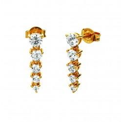 Viventy 781834 Ohrringe Damen Swarovski-Zirkonia Silber Vergoldet