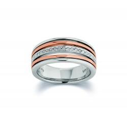 Viventy 781881 Ring Damen Zirkonia Silber Rosegold Vergoldet Gr. 58