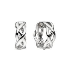 Viventy 782224 Ohrringe Creolen Damen Verdrehte Bänder Sterling-Silber