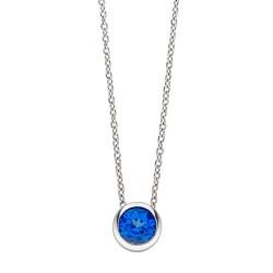 Viventy 782308 Halskette mit Anhänger Damen Topaz Blau Silber