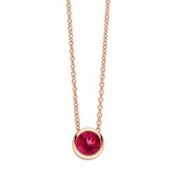 Viventy 782318 Halskette mit Anhänger Topaz Rot Silber Rose Vergoldet