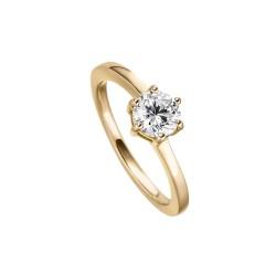 Viventy 782331 Ring Damen Swarovski Zirkonia Silber Vergoldet Gr. 52