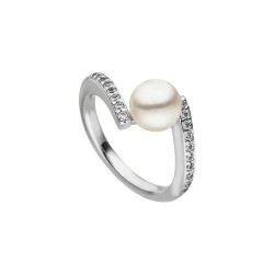 Viventy 782511 Ring Damen Perle Swarovski Zirkonia Silber Gr. 54