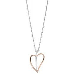 Viventy 782832 Halskette mit Anhänger Damen Herz Silber Rosegold Vergoldet