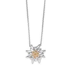 Viventy 782892 Halskette mit Anhänger Damen Edelweiß Zirkonia Silber