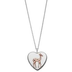 Viventy 782902 Halskette mit Anhänger Damen Herz mit Bambi Zirkonia Silber