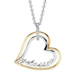 Viventy 783013 Halskette mit Anhänger Herz Gelassen Zirkonia Silber