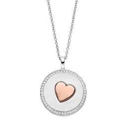 Viventy 783162 Halskette mit Anhänger Damen Herz Zirkonia Silber Rosegold