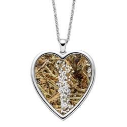 Viventy 783212 Halskette mit Anhänger Herz mit Wildspitze Zirkonia Silber