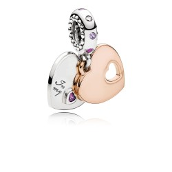 Pandora Rose 787235CFP Charm-Anhänger Part Of My Heart Herz