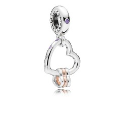 Pandora Rose 787247NLCMX Charm-Anhänger Heart Highlights Silber