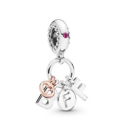 Pandora Rose 788165NCC Charm-Anhänger Best Friend Forever Silber
