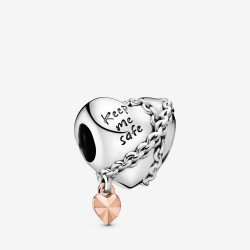 Pandora Rose 788344 Charm Chained Heart Sterling-Silber