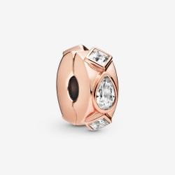 Pandora Rose 788429C01 Charm Clip Geometric Shapes Rosé Vergoldet