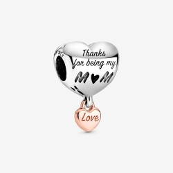 Pandora Rose 788830C00 Charm Love You Mum Herz Sterling-Silber