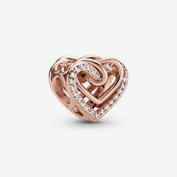 Pandora Rose 789270C01 Charm Funkelnde Verschlungene Herzen