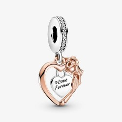 Pandora Rose 789290C01 Charm-Anhänger Damen Herz & Rose