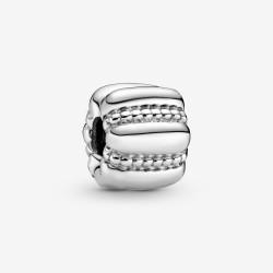 Pandora 790446 Charm Damen Punkte und Rippen Silber