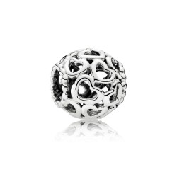 Pandora 790964 Charm Damen All-Over Herzen Sterling-Silber