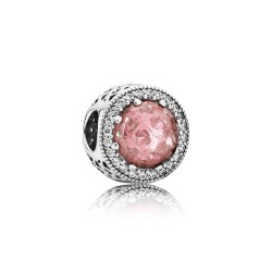 Pandora 791725NBP Charm Rosafarbener Strahlenkranz der Herzen